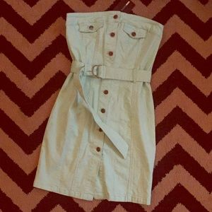 Mint Denim Mini Dress